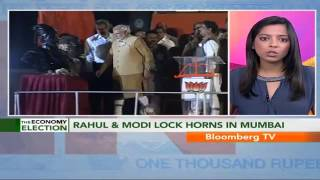 In Business- Rahul & Modi Lock Horns In Mumbai - BLOOMBERGUTV