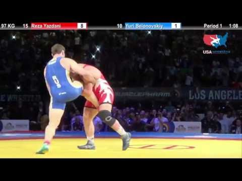 2X World Champ Reza Yazdani, Iran wrestler Single leg step