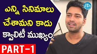 Actor Allari Naresh Interview Part #1 || Talking Movies with iDream - IDREAMMOVIES
