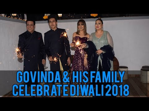 Govinda Grand Diwali Celebration With His Family | Rangeela Raja | Bollywood News & Gossips