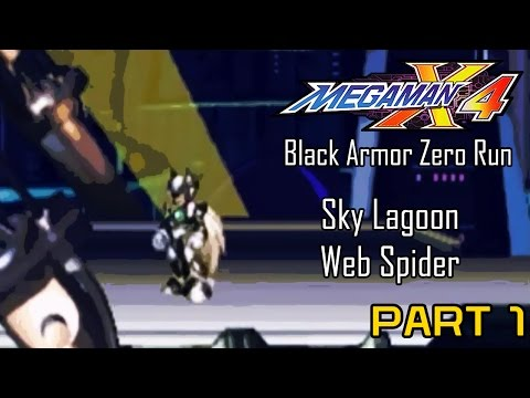 Mega Man X4 - Black Armor Zero Part 01: Intro Stage, Web Spider | Too Much Gaming