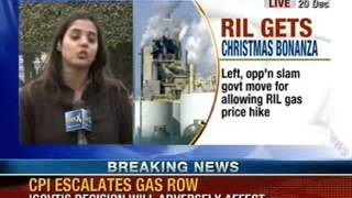 NewsX: Gas price hike to help RIL, CPI Leader Gurudas DasGupta - NEWSXLIVE