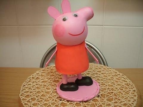 COMO HACER  CERDITA PEPA PIG, EN GOMA EVA, (FOFUCHA)