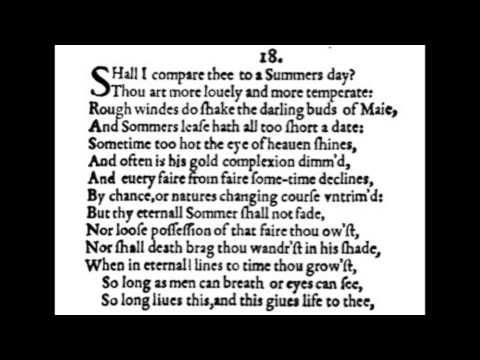 William Shakespeare sonnet 18