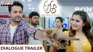 Samantha Dialogue Trailer  || A Aa Telugu Movie || Nithiin, Samantha , Trivikram, Mickey J Meyer - ADITYAMUSIC