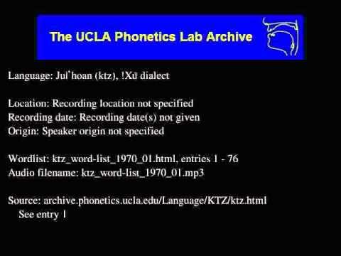 Ju|'hoan audio: ktz_word-list_1970_01