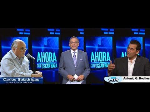 Debate entre Antonio Rodiles y Carlos Saladrigas en Ahora con Oscar Haza-MegaTV
