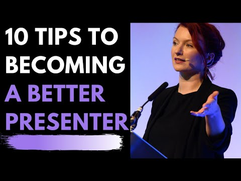 Presenting & Public Speaking - How to improve skills & confidence