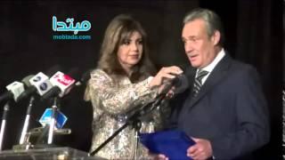بالفيديو.. الفيشاوى ينعى إبراهيم يسرى أثناء تكريمه