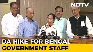 Mamata Banerjee Announces 18 Per cent DA Hike For Bengal Government Staff - NDTV