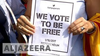 Catalonia referendum:  Final week of campaigning before independence vote - ALJAZEERAENGLISH