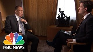 Russia's FM: There's A 'Fight' In U.S. To Make Donald Trump 'Miserable' | NBC News - NBCNEWS
