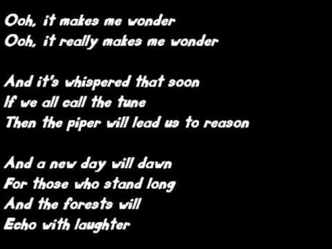 Led Zeppelin - Stairway to Heaven With Lyrics ( Tab on Description )