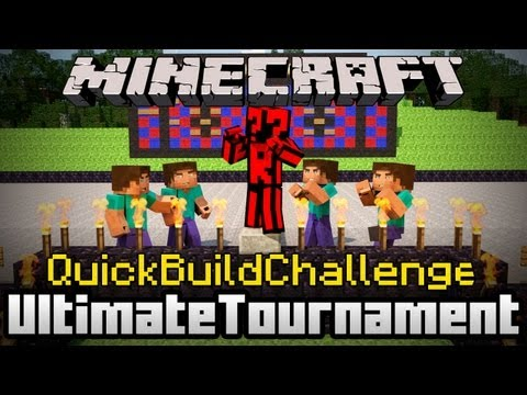 Minecraft Quick Build Challenge - Four Way Battle: Robots/Mechanics!