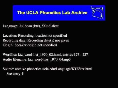 Ju|'hoan audio: ktz_word-list_1970_04