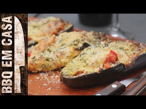 RECEITA DE BERINJELA RECHEADA (stuffed eggplant)