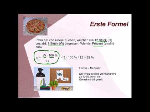 mathe formeln prozent