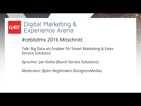 "#cebitdmx: Talk ""Big Data als Enabler für Smart Marketing & Sales Service Solutions"""