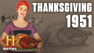 A Patriotic Thanksgiving in 1950s America | Flashback | History - HISTORYCHANNEL