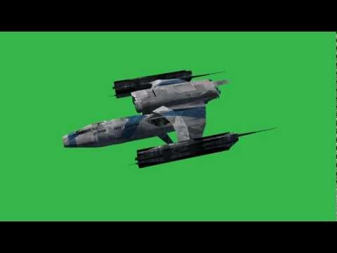 """Spaceship-Hermes"" free green screen effects - Spacecraft - UFO"