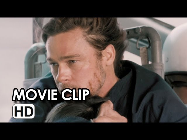 World War Z Movie CLIP - Plane Ride (2013) - Brad Pitt Movie HD