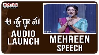 Mehreen Speech @ Aswathama Audio Launch | Naga Shaurya - ADITYAMUSIC