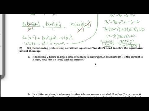Rational Equation Word Problem
