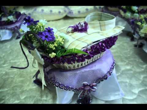 hantaran perkahwinan warna tema ungu putih