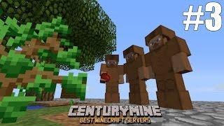 Играем в Minecraft на проекте CenturyMine - Часть 3: Добыча ресурсов