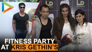 Sonu Sood & Raveena Tandon Celebrate fitness party at Kris Gethins - HUNGAMA