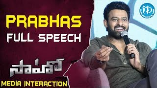 Saaho Movie Team Media Interaction || Prabhas || Shraddha Kapoor || iDream Filmnagar - IDREAMMOVIES