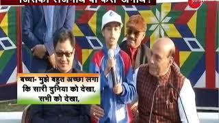 Watch: Impromptu response of Home Minister Rajnath Singh when a kid from J&K calls himself an orphan - ZEENEWS