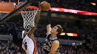 NBA Play Of The Week: Lebron's Big Block On Tiago Splitter, Assist, Steal & Dunk In Game 2 Of Playoffs!