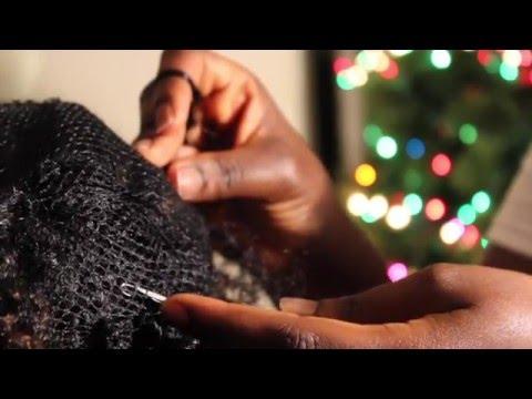 Crochet Braids on weaving net Tutorial