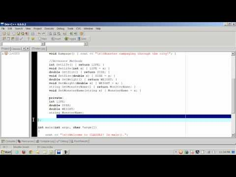 C++ Classes - Part 1 of 2 - Definition and Instantiation