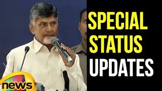 AP CM Chandrababu Naidu Press Conference in Bengaluru | AP Special Status Updates | Mango News - MANGONEWS
