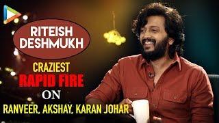 """Ajay Devgn is PRANK MASTER"": Riteish Deshmukh | Total Dhamaal | Rapid Fire - HUNGAMA"