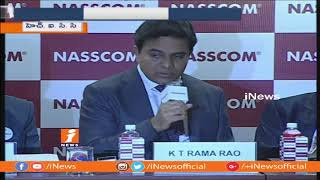 Telangana Govt Sign MoU With NASSCOM | To Establish AI Center Of Excellence in Hyderabad | iNews - INEWS