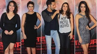 Varun Dhawan, Shraddha Kapoor and other Bollywood stars at the success  party of Movie 'Badlapur'