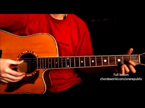 "If I Lose Myself Chords ""OneRepublic"" ChordsWorld.com Guitar Tutorial"