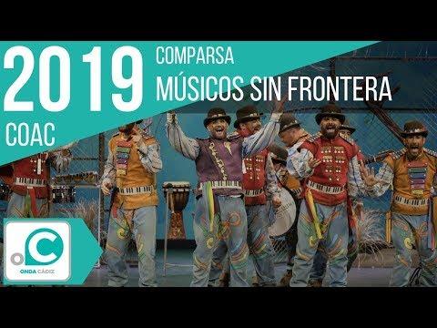 La agrupación Músicos sin fronteras llega al COAC 2019 en la modalidad de Comparsas. En años anteriores (2018) concursaron en el Teatro Falla como Los incontrolables, consiguiendo una clasificación en el concurso de Cuartos de final.