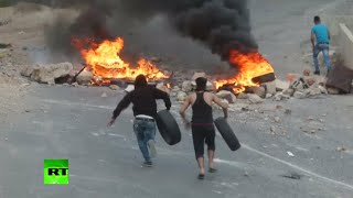 RAW: West Bank violence flares, hundreds of Palestinians clash with Israeli forces - RUSSIATODAY