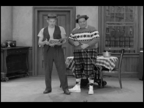 Classic Honeymooners Golf Scene