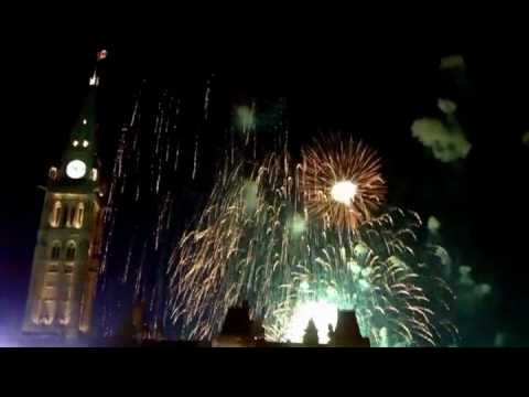 Canada Day in Ottawa, July 1st 2010 - Part 1  firework show  on parliament hill