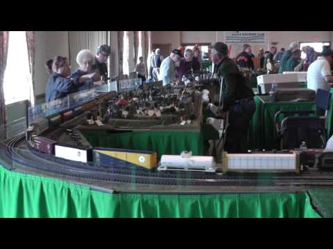 Spectacular National Capital Trackers Train Layout at York, April 2014