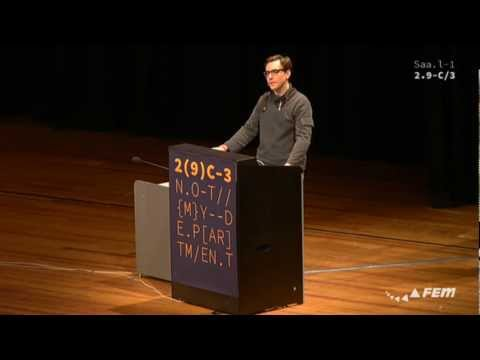 Jacob Appelbaum 29C3 Keynote: Not My Department