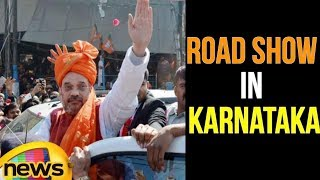 BJP Chief Amit Shah Road Show In Hubli | Karnataka | Mango News - MANGONEWS