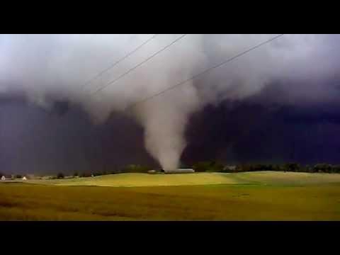 Tornado w Sztumie w 2012 roku.