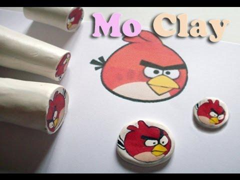 """Cane """"Angry Bird"""" из полимерной глины, для украшений для детей"""