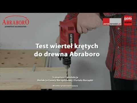 Test wierteł krętych do drewna z Abraboro